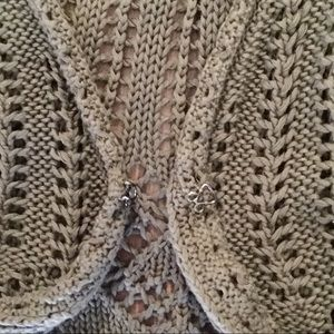 Old Navy Jackets & Coats - NWOT- beautiful olive green crocheted vest